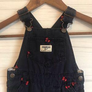 Osh Kosh Cherry Overalls. Size 18 months.
